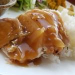 あけぼの分校 給食室 - 鶏肉の生姜餡かけです。