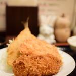 ねこや - ミックスフライ定食@税込900円