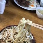 前田食堂 - 2017年11月20日  麺ほじくり出してリフト(下手くそ)