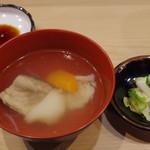 金寿司 - アラ汁