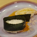金寿司 - 甘海老の頭の塩辛
