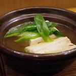 赤坂 詠月 - 穴子と九条葱の小鍋