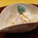 赤坂 詠月 -  進肴:ボタンエビ、帆立、毛蟹の酢のもの