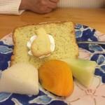 魚七商店 結 - レディースランチに付くデザートです。