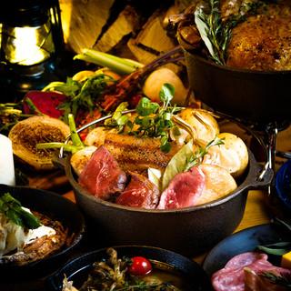 ◆歓送迎会はこだわりのジビエ料理で!飲み放題付4000円~