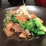旬穀旬菜カフェ - A膳 牛肉と蓮根の揚げ煮 煎り黒豆ごはん 1080円。