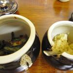 麺処 じんじん - ニラとニンニク、パワーアップ系トッピング