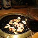 楽天王 - ホルモン&赤ワイン