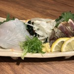 炭火串焼と旬鮮料理の店 備長炭焼 遠州葵家 - 刺身2品盛り