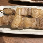 炭火串焼と旬鮮料理の店 備長炭焼 遠州葵家 - 豚バラ