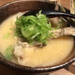 炭火串焼と旬鮮料理の店 備長炭焼 遠州葵家 - あら汁
