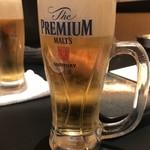 大衆昭和居酒屋 川崎の夕焼け一番星 - 生ビール。飲み放題に気付かず頼んじゃった