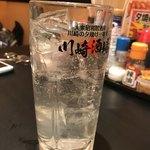 大衆昭和居酒屋 川崎の夕焼け一番星 - ライチソーダはメニューになかったけど、作ってくれた