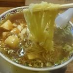 らーめん処よなかそば - 細麺/味濃い目・豆腐一丁使用