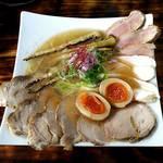 麺屋 裕 - 蟹塩そば(特製裕盛り)