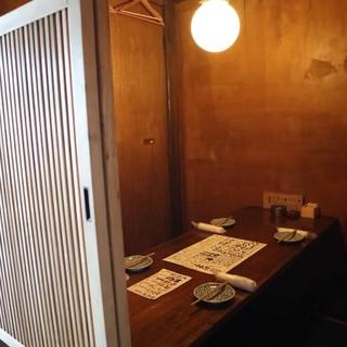 【空間】カウンター席を除いて全席個室をご用意!