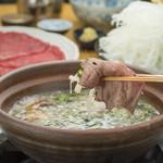 心・技・体 うるふ - 和牛赤身ロースとすっぽんスープの極みしゃぶしゃぶ