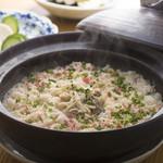心・技・体 うるふ - ふぐとずわい蟹の炊き込みご飯