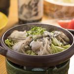 心・技・体 うるふ - 牡蠣の塩麹陶板焼き