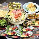 旬花酒灯てんふじ - 料理写真:飲み放題込宴コース5,200円