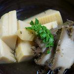 華ぶさ - アワビと筍の炊き合わせ