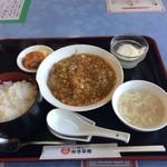 麻婆菜館 - Bランチ740円、牡蠣のチリソースです。