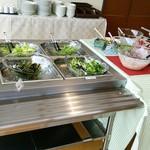農家レストラン 大地 - サラダとフルーツ類