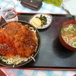 松喜食堂 - ソースかつ丼3枚850円