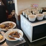食べくらべ - 納豆、卵焼き、煮魚など