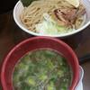 山麺 - 料理写真:香味焙煎麺のつけ麺(大)2017.11.21