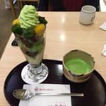 76796275 - 都路里パフェ+お抹茶