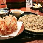 紗羅餐 - 桜海老かき揚げと二八蕎麦@1500