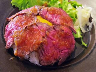 肥後橋 肉食工房 アンモッテ - 【ランチ】 牛ハラミステーキ丼 \980