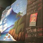 大衆浴場 足立屋 - 2017年11月20日  銭湯、富士山の絵