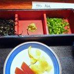 蓬扇 - 薬味と漬け物