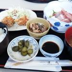 レストラン漁連 - お造り定食(竹)