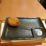 串幸 - 舟形産マッシュルームの肉詰め