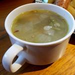 バル マルシェ コダマ - スープまたはサラダ、ドリンクのセットは400円