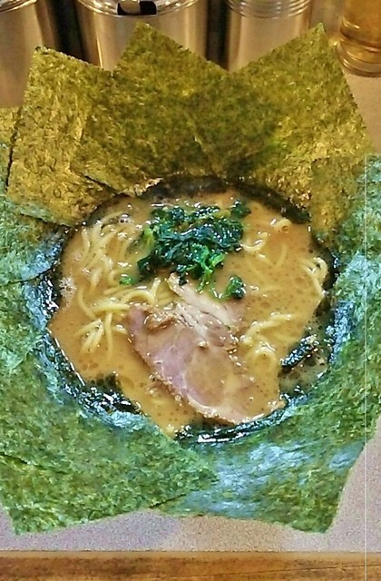 匠家 50号バイパス店 - ラーメン650円。麺硬め。海苔増し110円。