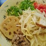 76808992 - 青葱・蓮根・モヤシ・挽肉