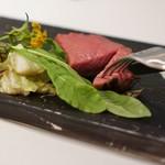 76812703 - 天草の黒毛和牛ランプ肉のアイアンステーキ