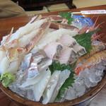 蟹かに亭 - ズワイガニ 刺し盛り