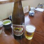蟹かに亭 - 瓶ビール(大)