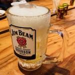 ごちそうとん汁 - ジムビームソーダ割り(500円)