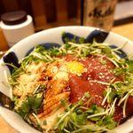 76814689 - づけ鮪穴子丼 1100円