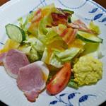 椿屋珈琲店 - 湘南鎌倉野菜とレタス、卵、ハムのサラダ