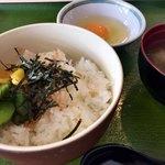 ふみちゃん食堂 - 玉子かけごはんセット ¥230