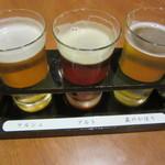 76818286 - 飲み比べSET 都麦酒セット 630円+Tax