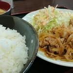 肉屋食堂 たけうち - 生姜焼き定食 720円