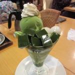 京はやしや - 抹茶パフェ 875円